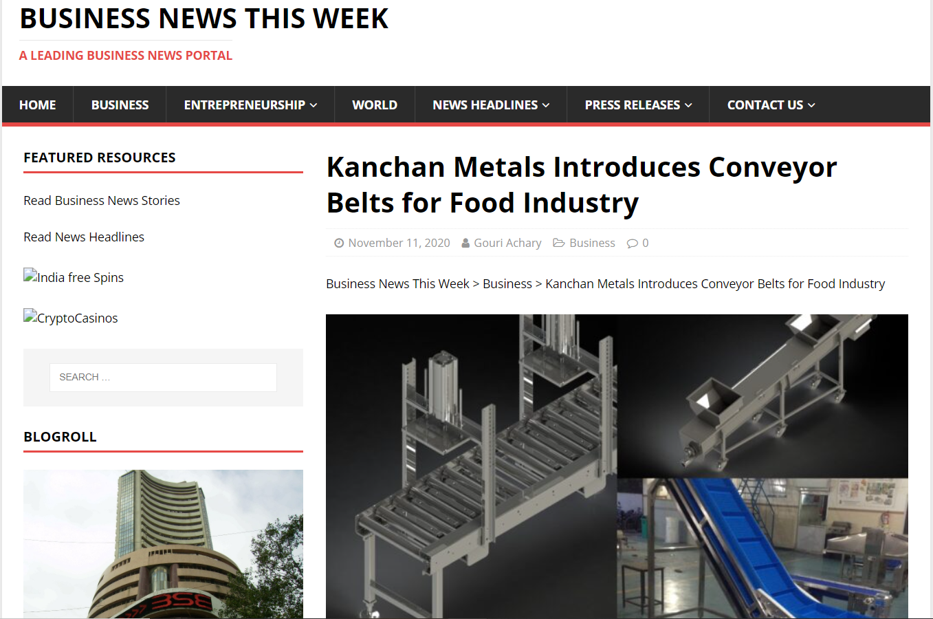 Strategic Decision to launch new conveyor belts