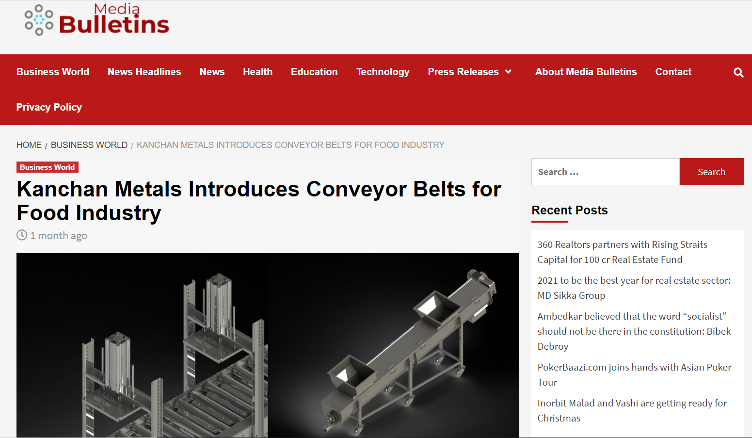 Varied Number Of Conveyor