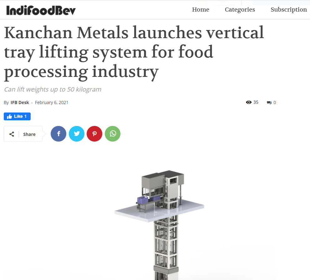 Always tries to launch products that fulfill the demand of the food processing segment.