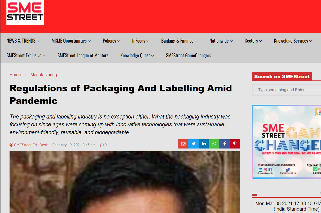 Regulations of Packaging And Labelling Amid Pandemic