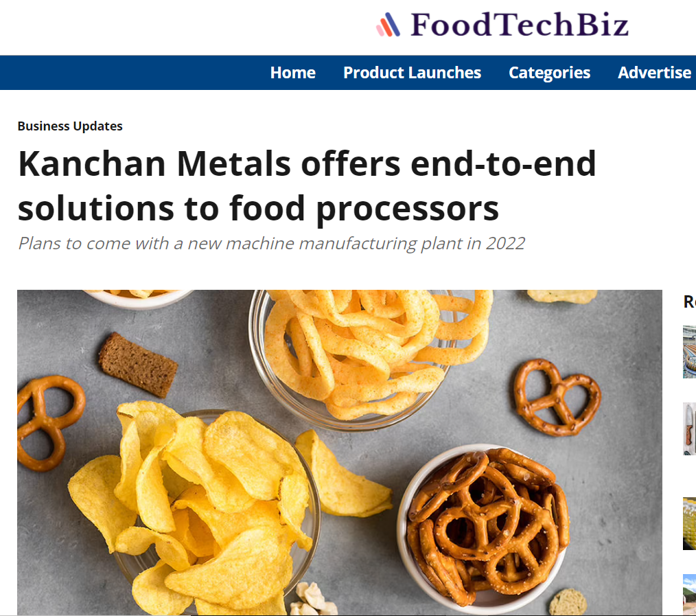 Kanchan Metals offers end-to-end solutions to food processors