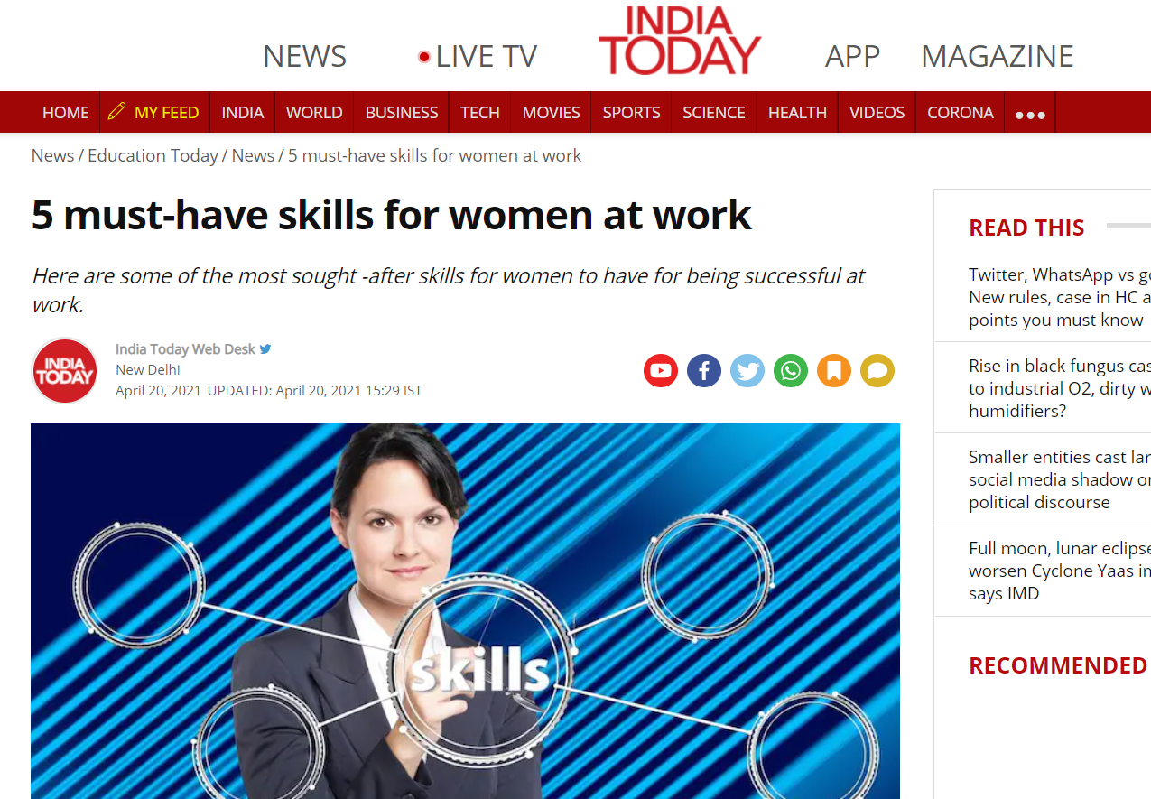 5 Must have skills for women at work