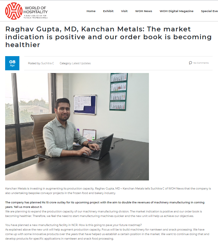 Raghav Gupta, MD, Kanchan Metals: The market indication is positive and our order book is becoming healthier